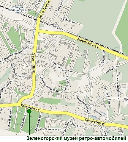 Карта проезда к музею